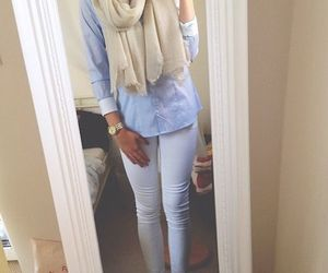 beige, blue, and pretty image