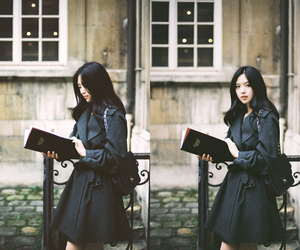 book, girl, and korean image