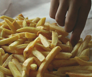 food, food porn, and fries image