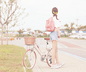 pink, bike, and kawaii image