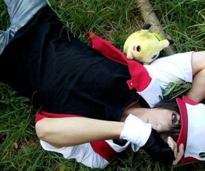 cosplay, pokemon, and red image