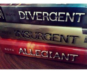 book, insurgent, and divergent image