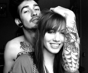 couple, tattoo, and boy image
