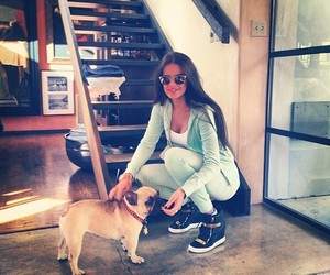 dog, girl, and style image