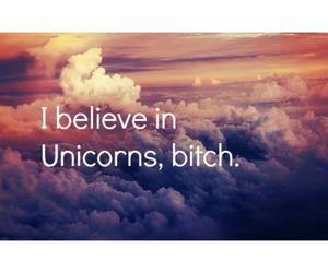 believe, unicorns, and bitch image