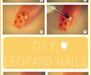 nails, diy, and leopard image