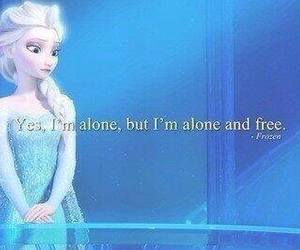 frozen, alone, and disney image