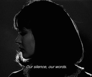 silence, black and white, and quote image