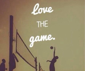 love it, volleyball, and best game image