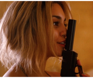 vanessa hudgens, gun, and spring breakers image