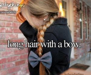 bow and long hair image