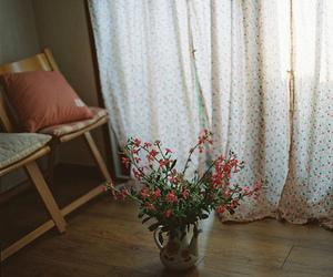 flowers, light, and vintage image