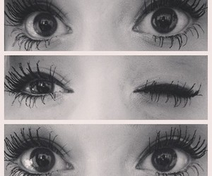 eyes, makeup, and lashes image