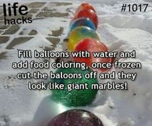 balloons, life hacks, and marbles image