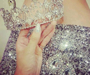 crown, diamonds, and nails image