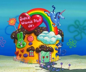 spongebob, funny, and super weenie hut jrs image
