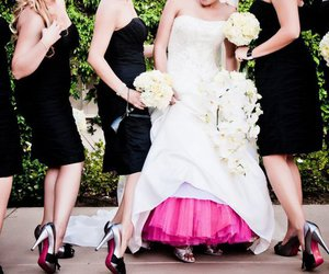 bride, gown, and hot pink image