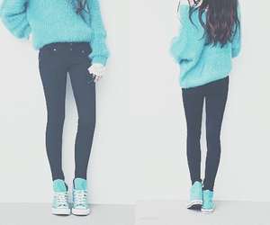 fashion, blue, and converse image