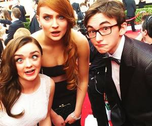 sophie turner, maisie williams, and game of thrones image