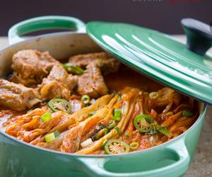 korean, ribs, and stew image