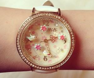 watch, bird, and clock image