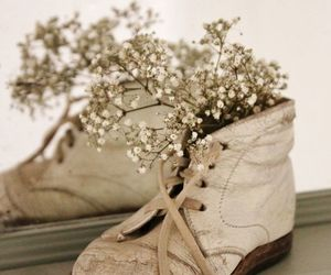 decoration, flower, and shoe image