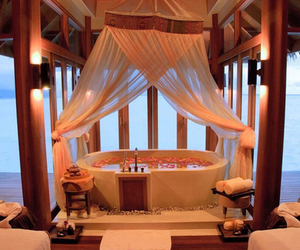 luxury, romantic, and bath image