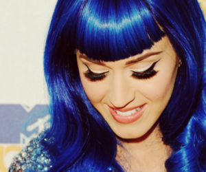 katy perry, blue, and blue hair image