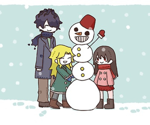 mary, ib, and garry image