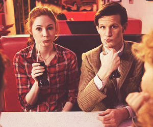 doctor who, matt smith, and karen gillan image