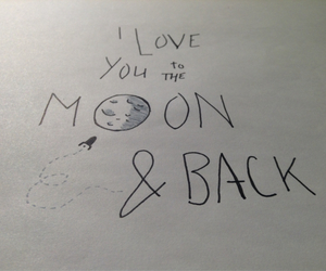 back, moon, and dessin image