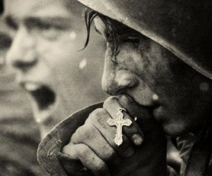 war, soldier, and faith image