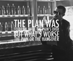 hangover, drink, and pain image
