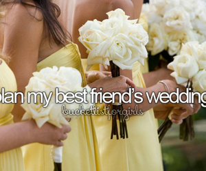 wedding, best friends, and plan image