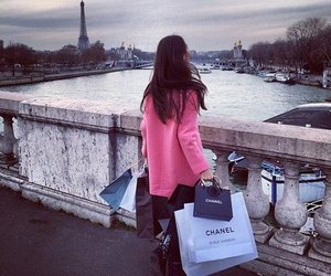 girl, shopping, and chanel image