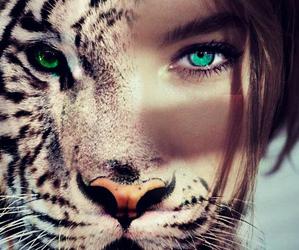 girl and tiger image