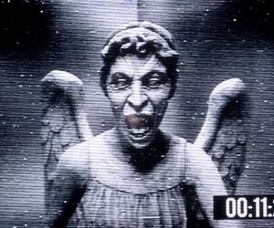 doctor who, angel, and weeping angel image