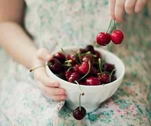 cherry, vintage, and fruit image
