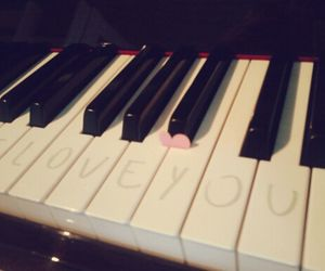 piano, YAMAHA, and love image