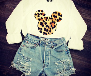 fashion, outfit, and mickey mouse image