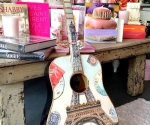 music, paris, and eifel tower image