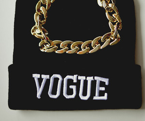 fashion, vogue, and gold image