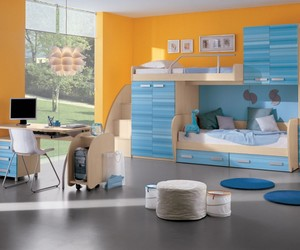 bedroom, blue, and kids image
