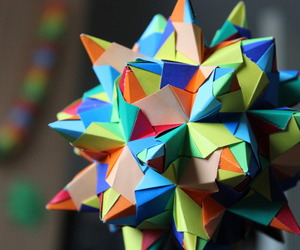 colour, origami, and Paper image