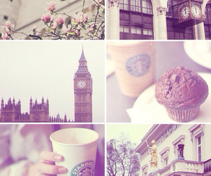 london, starbucks, and Big Ben image