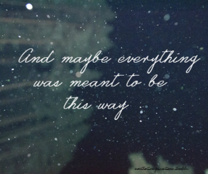 quote, typography, and snow image