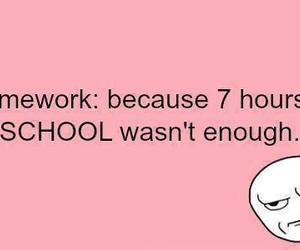 school, homework, and quotes image
