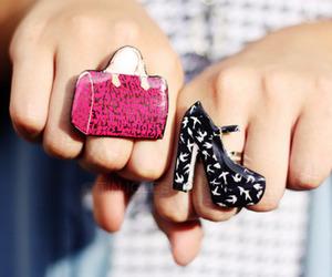 fashion, rings, and bag image