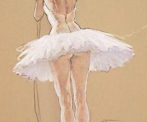 art, ballet, and dancer image