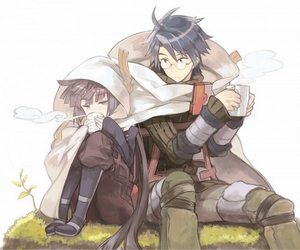 anime, shiroe, and akatsuki image